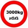 3000kg Gesamtgewicht statt 2700kg