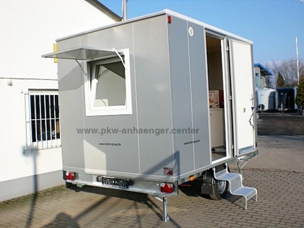 Bauwagen Mannschaftswagen mit Toilette WC und Lager