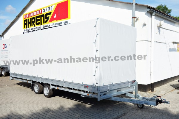 Hulco MEDAX-2 3t 611x203x200cm Planenanhänger Hochlader