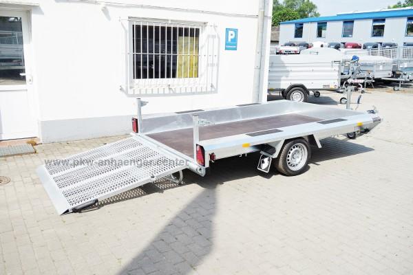 Einachs Baumaschinentransporter Hapert 1500kg INDIGO LF1 310x164cm