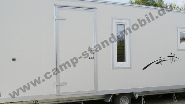 Außenfarbe in weiß für Camp Stand Mobil