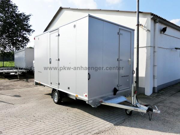 Bauwagen mit Toilette Mannschaftswagen 1300kg 8 Personen