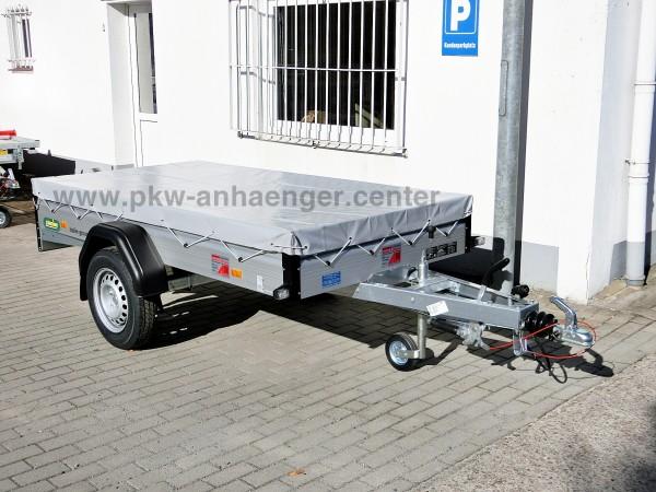 Pkw Anhänger Unsinn WEB14 mit Flachplane 1300kg