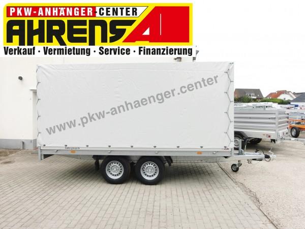 Mietanhänger Planenanhänger Hochlader 2000kg 405x180x180cm