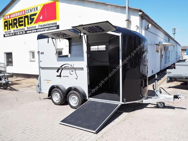 Cheval Liberte DUOMAX 2er Pferdeanhänger mit Schrägstellung Frontausstieg Sattelkammer