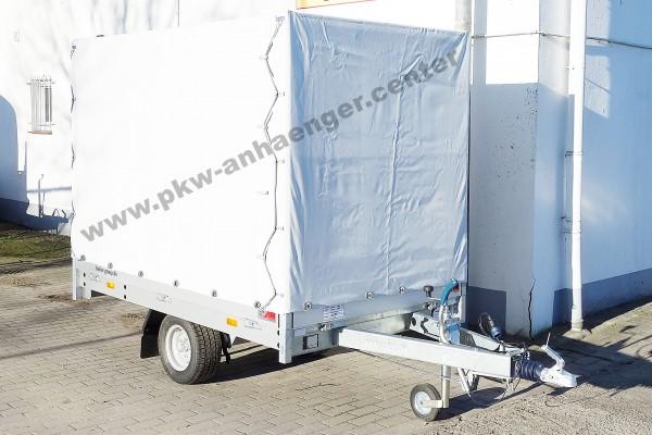 Mietanhänger Planenanhänger Hochlader 1350kg 230x140x160cm