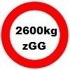 2600kg zGG für Cheval Liberte Roadstar 500 Kofferanhänger