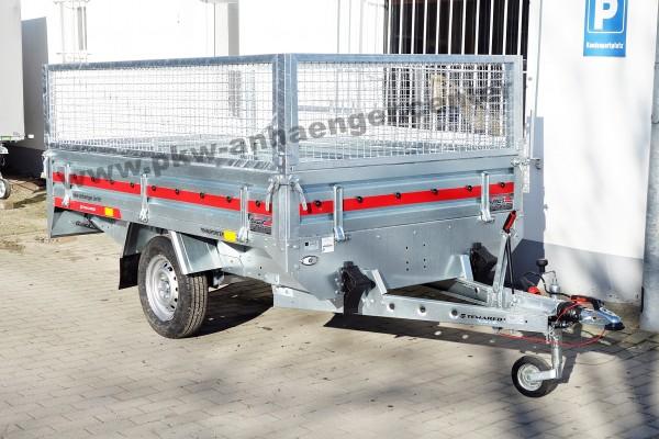 Temared Hochlader 1300kg mit Gitteraufsatz 263x154x85cm