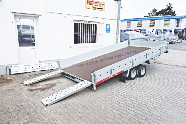 Autotrailer Temared 2700kg Plattform ankippbar mit Bordwänden
