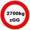 2700kg Gesamtgewicht statt 2000kg