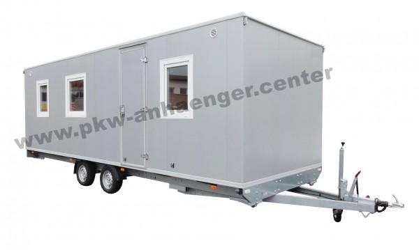 Caravan Wohnwagen Aufenthaltsanhänger mit 2 Räumen Küche und WC