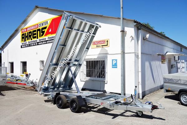 Hapert 3500kg Dreiseitenkipper 375x180x30cm Massivstahlboden Cobalt HM2 Ferro