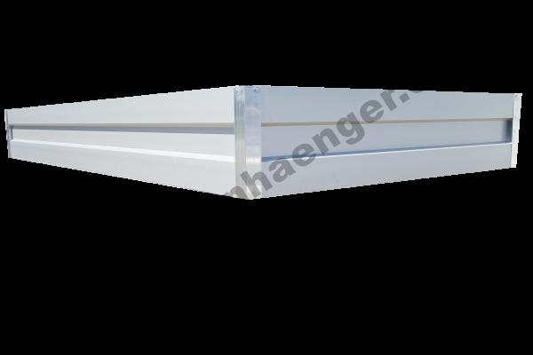 Aluaufsatz 35cm für Pkwanhänger im Innenmaß ca. 350x160cm