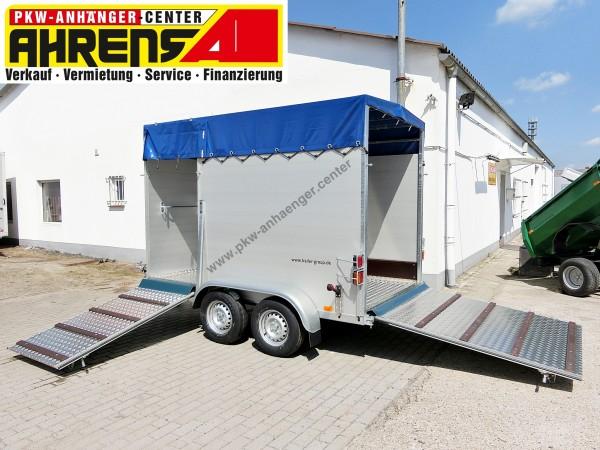 Viehanhänger Tiertransporter 2000kg 295x160x190cm