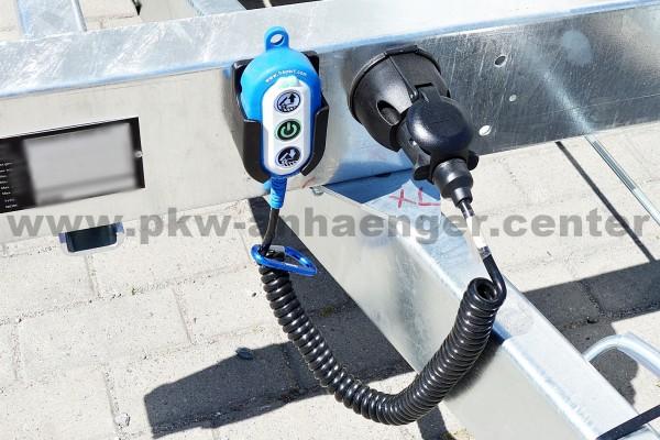E-Hydraulik statt Handpumpe für Hapert Kipper