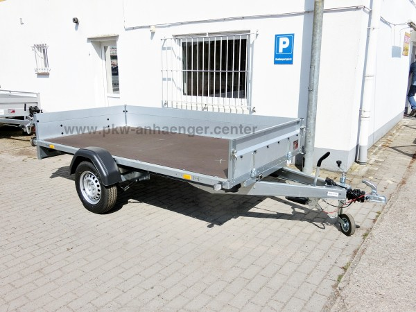 Pkwanhänger Stema Systema 1300kg 301x153x35cm Bordwände abnehmbar