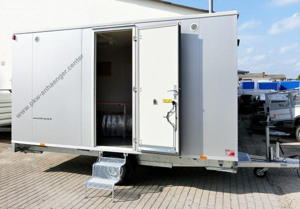 Bauwagen für 8 Personen mit Lagerraum und Toilette
