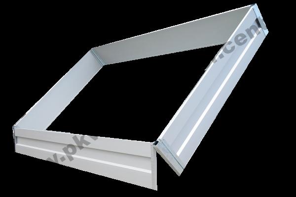 Alubordwandaufsatz 35cm für Hapert COBALT und AZURE 280x160cm