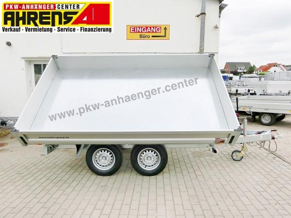 Mietanhänger Dreiseitenkipper 2600kg 306x175x30cm