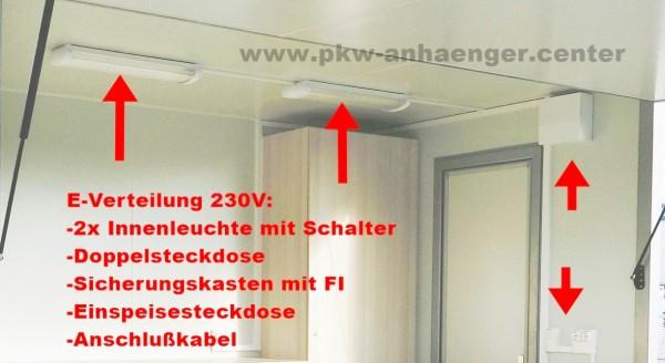 Elektroinstallation 230V für Seller Verkaufsanhänger